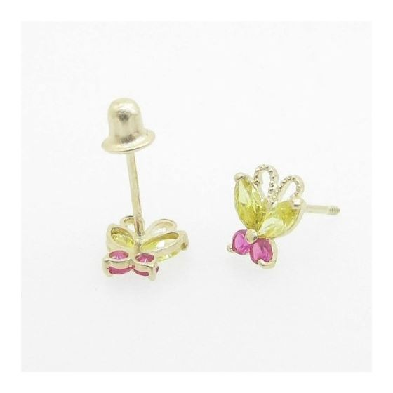 14K Gold Earrings heart star flower dolp 63640 2