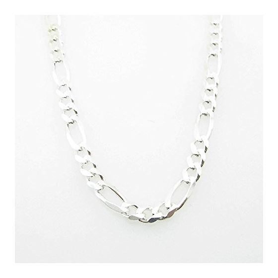 Silver Figaro link chain Necklace BDC90