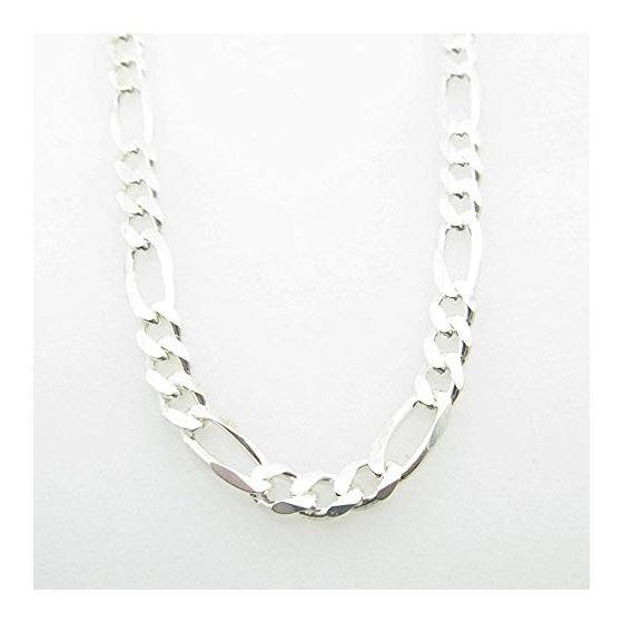 Silver Figaro link chain Necklace BDC94 79732 1