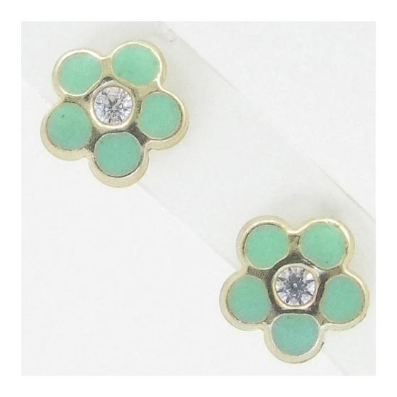 14K Gold Earrings heart star flower dolp 63724 1