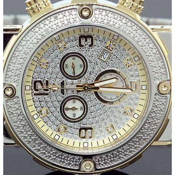 Aqua Master Mens Diamond Two Tone Watch  28060 2