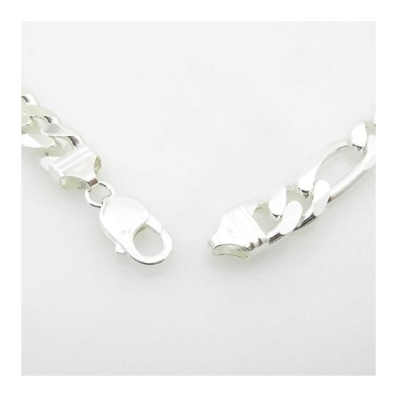Silver Figaro link chain Necklace BDC75