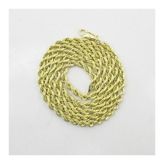 "Mens 10k Yellow Gold skinny rope chain ELNC3 20"" l"
