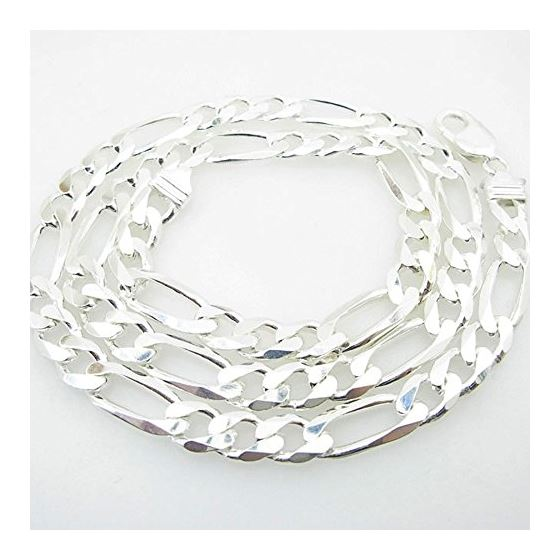 Silver Figaro link chain Necklace BDC76 79646 1