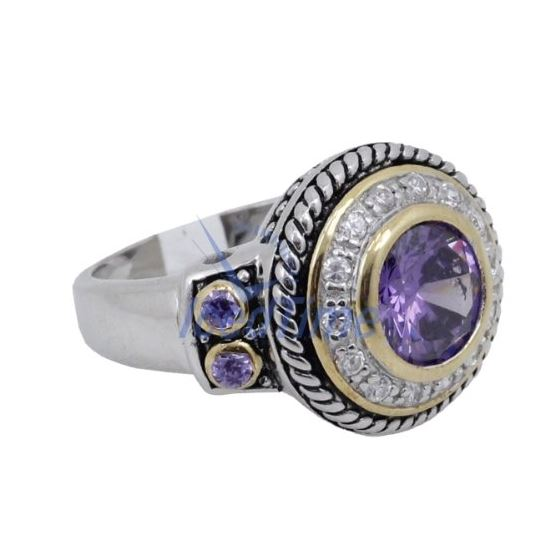 Ladies .925 Italian Sterling Silver Purple Viole-4