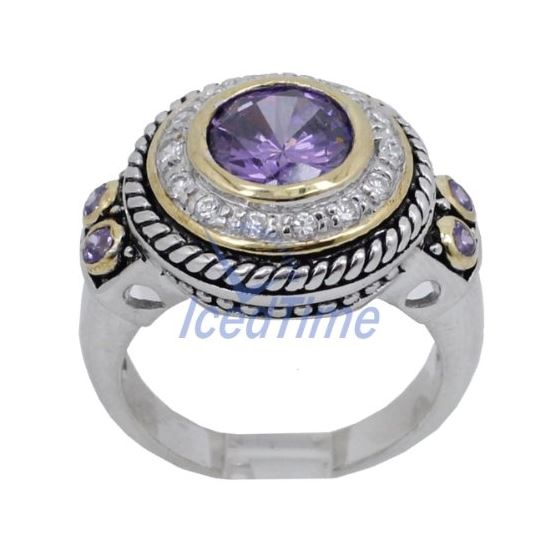 Ladies .925 Italian Sterling Silver Purple Viole-2
