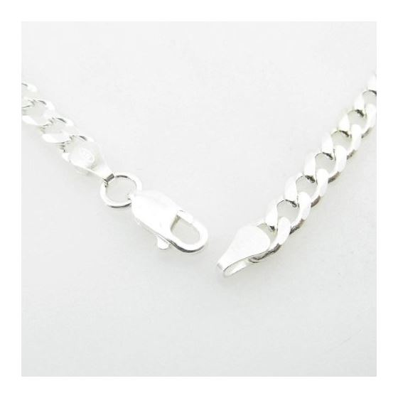 Silver Curb Link Chain Necklace Bdc82-4
