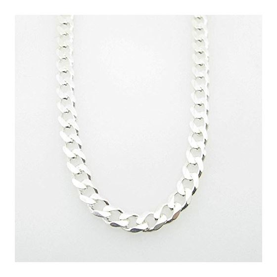 Silver Curb link chain Necklace BDC88