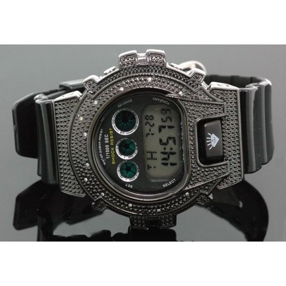 Ice Plus Mens Diamond Shock Style Watch  27752 1