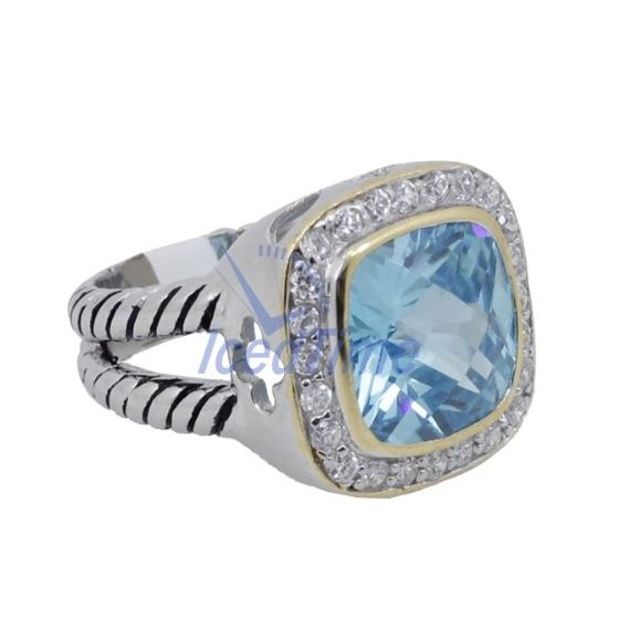 Ladies .925 Italian Sterling Silver Baby Blue Sy-4