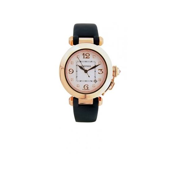 Cartier Pasha 18kt Rose Gold Diamond Wat 55222 1