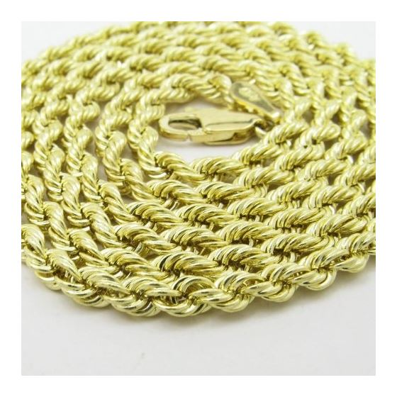 Mens 10K Yellow Gold Skinny Rope Chain Elnc13 22-2