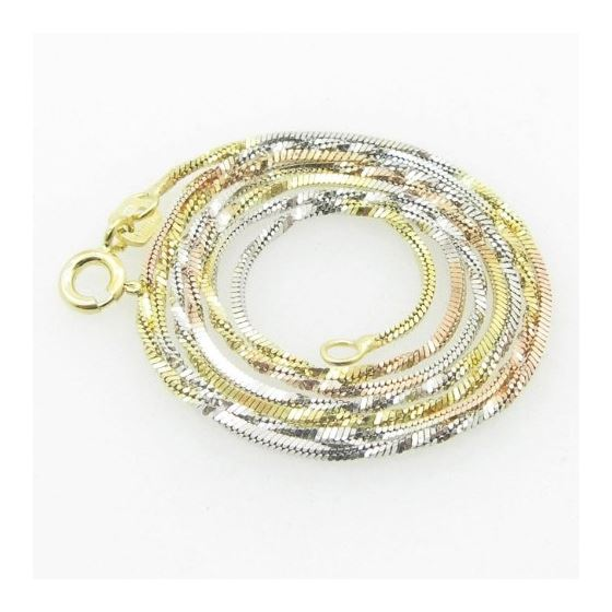 Ladies .925 Italian Sterling Silver Tri  74504 1