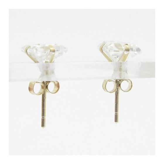 Unisex 14K solid gold earrings fancy stu 81394 2