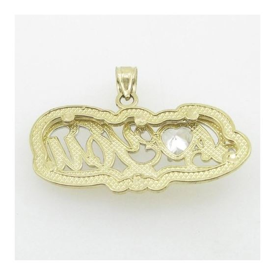 Ladies 10K Solid Yellow Gold I love you  87748 3