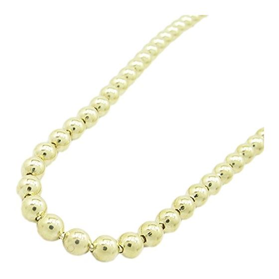 Mens 10K Yellow Gold Combat Ball Link Chain Elnc64