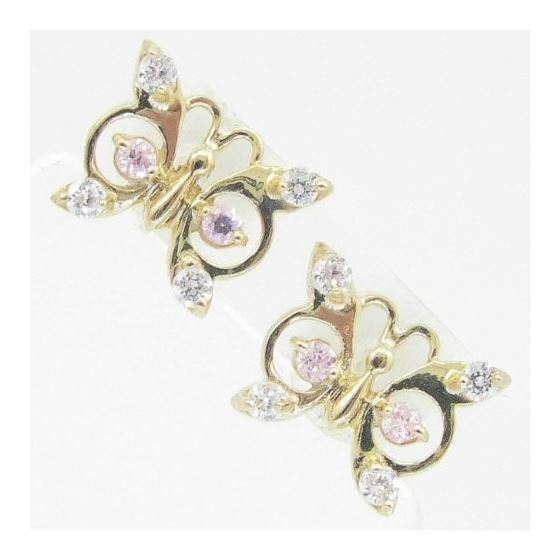 14K Gold Earrings heart star flower dolp 63943 1