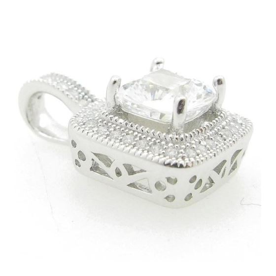 Ladies .925 Italian Sterling Silver square tear dr