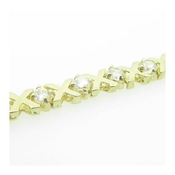 Ladies 10K Solid Yellow Gold fancy x lin 74913 4