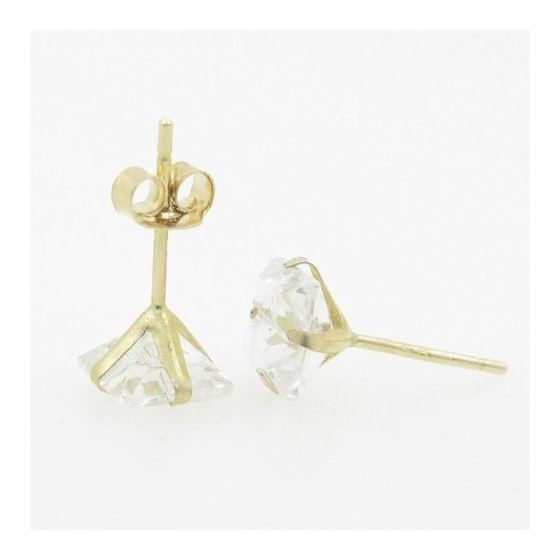 Unisex 14K solid gold earrings fancy stu 81396 4