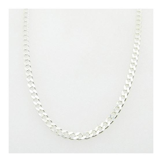 Silver Curb link chain Necklace BDC66 79528 1