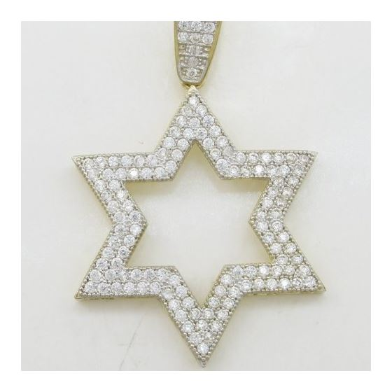 Mens 10k Yellow gold Outer star of david gold cz p