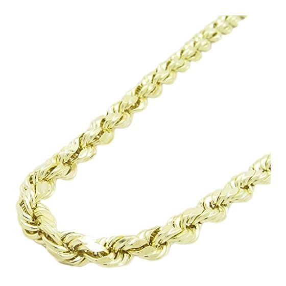 Mens 10k Yellow Gold rope chain ELNC21 2 77875 1