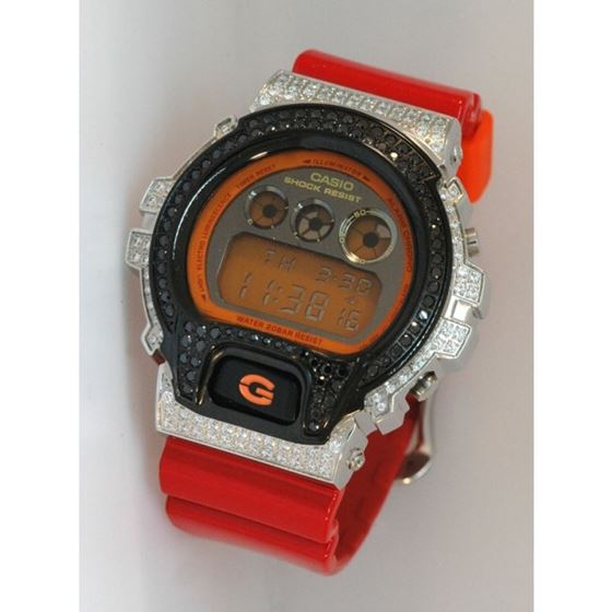 Casio G-Shock 5.00 ct Swarovski Iced Out Mens Watc