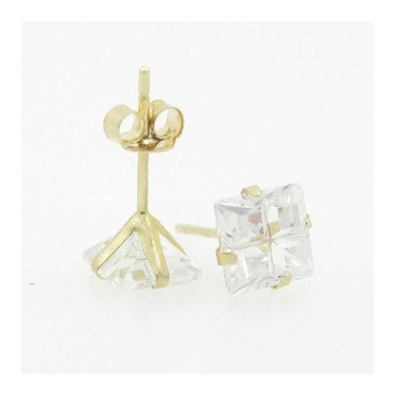 Unisex 14K solid gold earrings fancy stu 81395 3