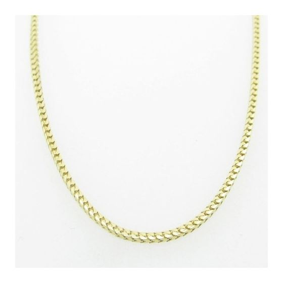 Mens Yellow-Gold Franco Link Chain Length - 16 inc