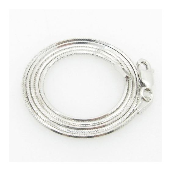 Ladies .925 Italian Sterling Silver Snake Link Cha