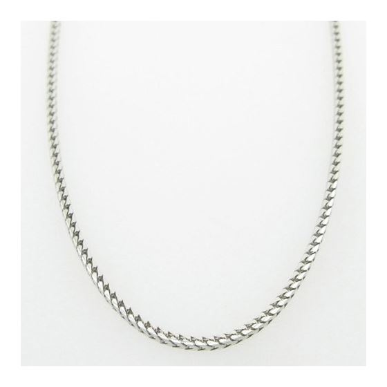 Mens White-Gold Franco Link Chain Length - 18 inch