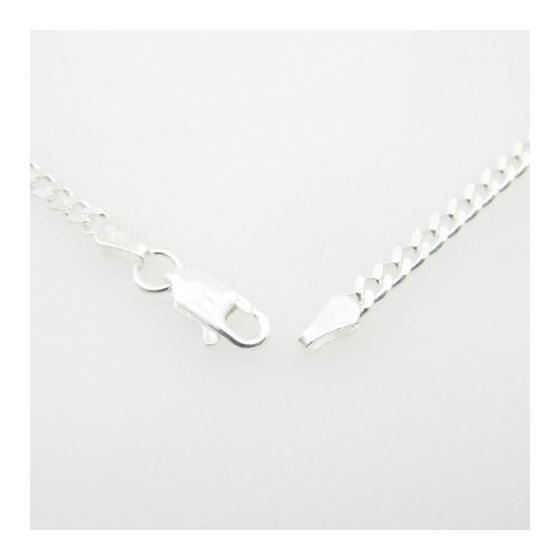Silver Curb link chain Necklace BDC72