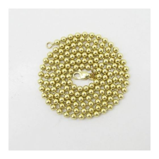 Mens 10k Yellow Gold combat ball link chain ELNC61