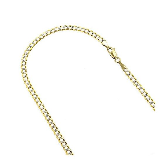Mens Yellow-Gold Cuban Diamond Cut link  79110 1