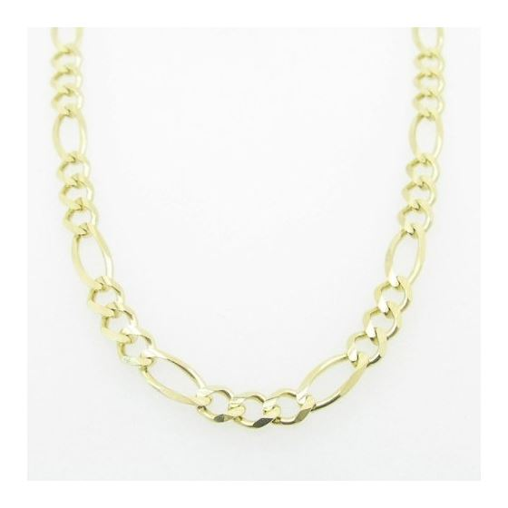 Mens Yellow-Gold Figaro Link Chain Length - 20 inc