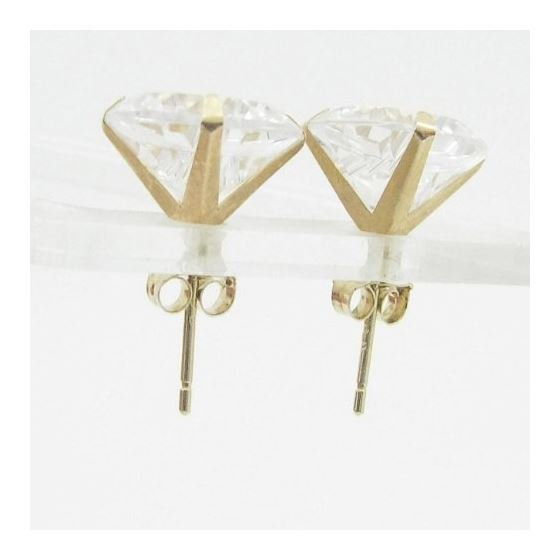 Unisex 14K solid gold earrings fancy stu 82078 2