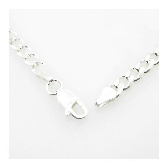 Silver Curb link chain Necklace BDC85 79561 3