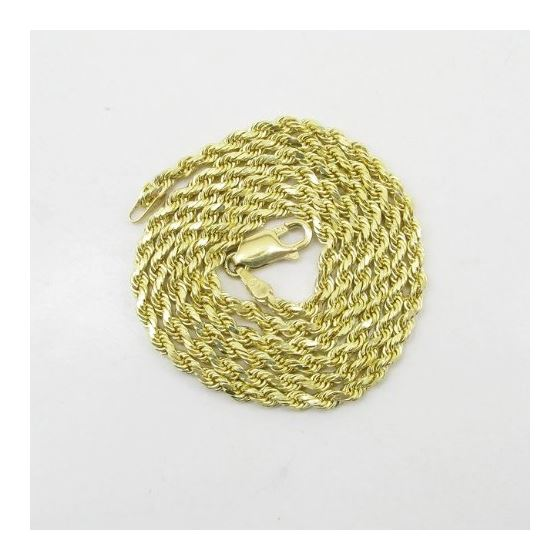Mens 10k Yellow Gold skinny rope chain ELNC34 20""