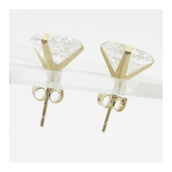 Unisex 14K solid gold earrings fancy stu 82113 2