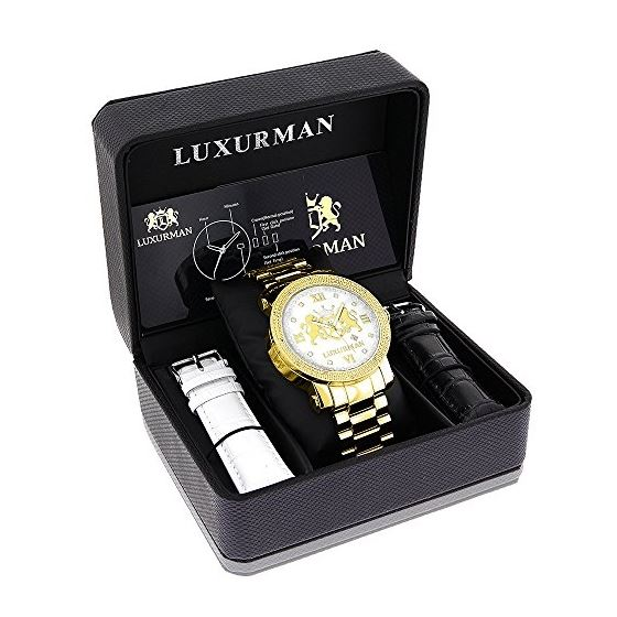 Phantom Yellow Gold Plated Genuine Diamo 91123 4