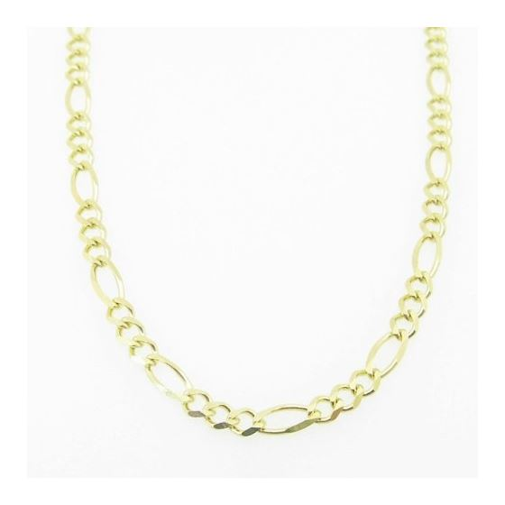 Mens Yellow-Gold Figaro Link Chain Lengt 79145 3