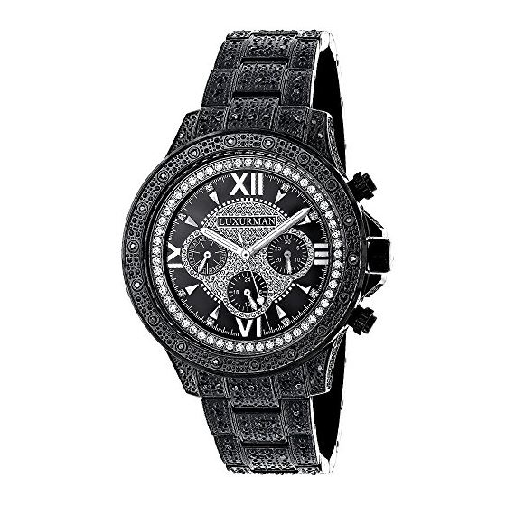 Mens Phantom Black Genuine Diamond Luxur 90804 1