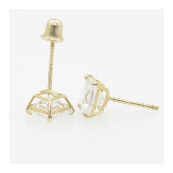 Unisex 14K solid gold earrings fancy stud hoop hug