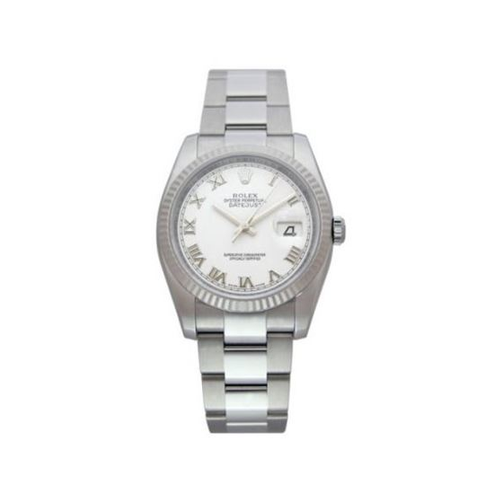 Rolex Oyster Perpetual Datejust Mens Wat 53712 1