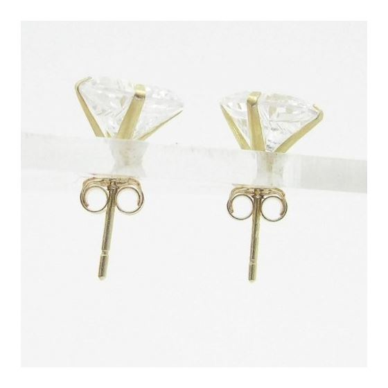 Unisex 14K Solid Gold Earrings Fancy Stud Hoop H-2