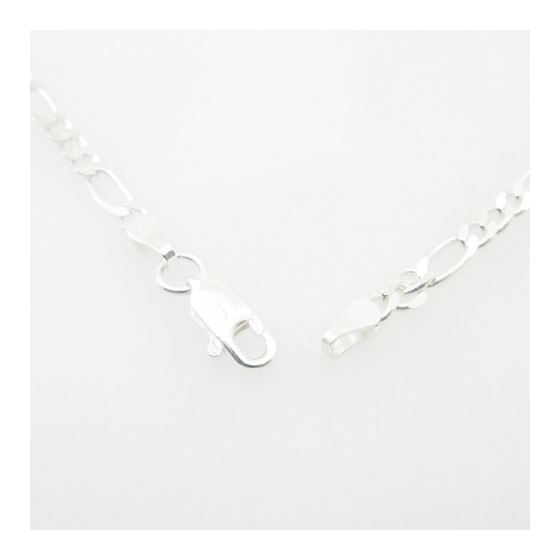 Silver Figaro Link Chain Necklace Bdc70-3