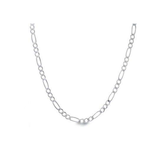 Silver Figaro link chain Necklace BDC62 79597 1