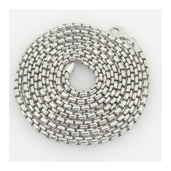 Mens .925 Italian Sterling Silver Franco Box Ball