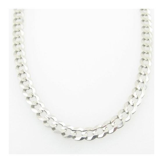 Mens White-Gold Cuban Link Chain Length  79002 3